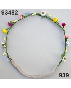 Blüten-Girlande mit Gummiband / bunt / 93482.932