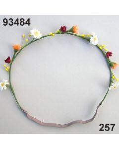 Blüten-Girlande mit Gummiband /orange-rot / 93484.257