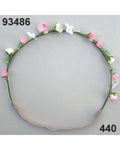 Blüten-Girlande mit Gummiband / rosa-weiß / 93486.440