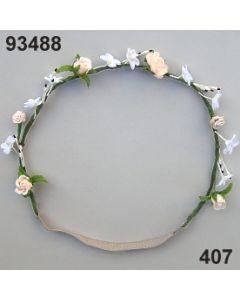 Blüten-Girlande mit Gummiband / lachs / 93488.407