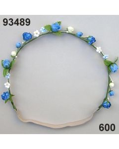 Blüten-Girlande mit Gummiband / blau / 93489.600