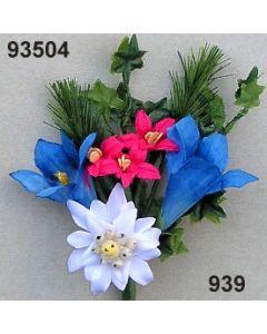 Enzian-Edelweiß Anstecker / bunt / 93504.939
