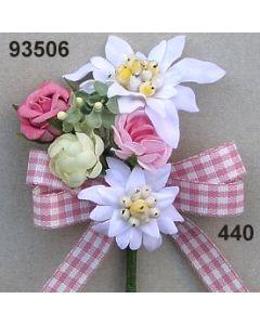 Edelweiß-Rosen Anstecker / rosa-weiß / 93506.440