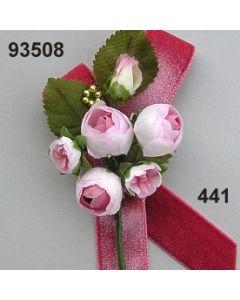 Ranunkel Anstecker Samt / rosa-champagner / 93508.441