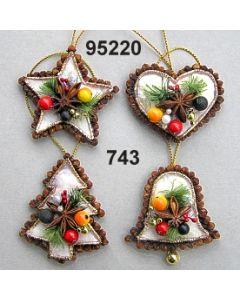 Gewürznelken Filz Set klein / grün-rot / 95220.743