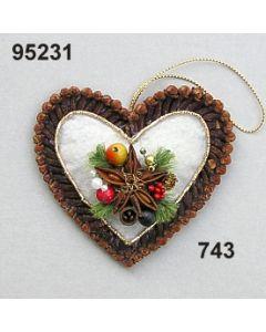 Gewürznelken Filz Herz / grün-rot / 95231.743