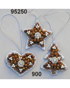 Gewürznelken Glimmer Set klein / silber / 95250.900