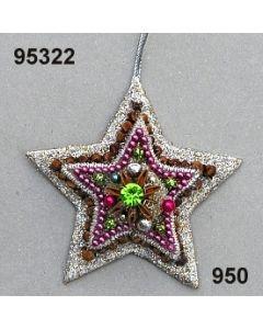Modern-Ornament Stern / silber-lila / 95322.950
