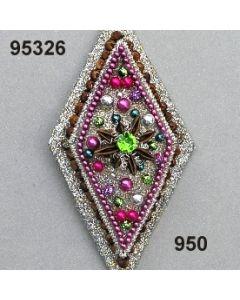 Modern-Ornament Rhombus / silber-lila / 95326.950