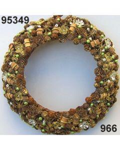 Bouillonblume-Sternanis Kranz XL / gold-grün / 95349.966