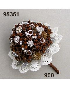 Bouquet Sisi mittel / silber / 95351.900