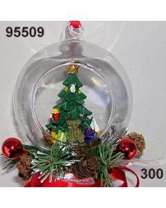 Glaskugel Tannenbau dekoriert / rot / 95509.300