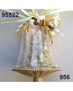Glasglocke Glimmer Hirsche dekoriert / gold-creme / 95522.956
