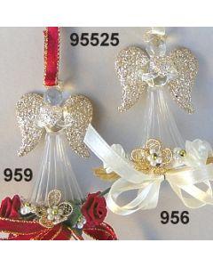 Glasengel dekoriert / 95525