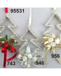 Glas Baum Glimmer dekoriert / 95531