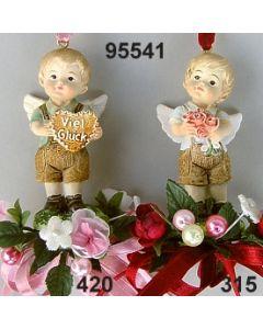 Trachtenengel Junge dekoriert  / 95541