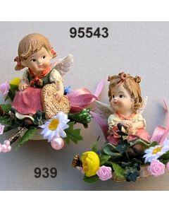 Trachtenengel sitzend dekoriert / bunt / 95543.939