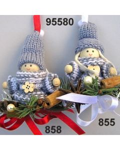 Strick-Wichtel dekoriert  / 95580