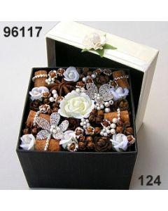 Florabox Samtrose groß / champagner / 96117.124
