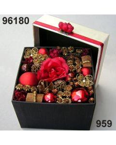 Florabox Weihnacht groß / gold-weinrot / 96180.959
